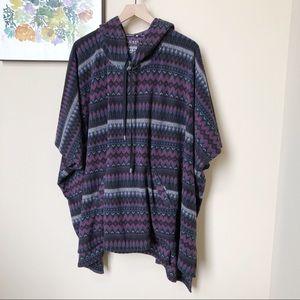 LRL Hooded Fleece Blanket Poncho Size XL